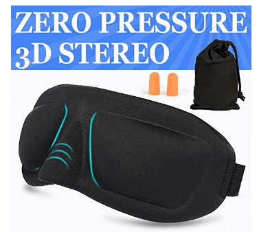 AMAZKER 3D Sleep Mask and Ear Plugs with Large Eye Cavities