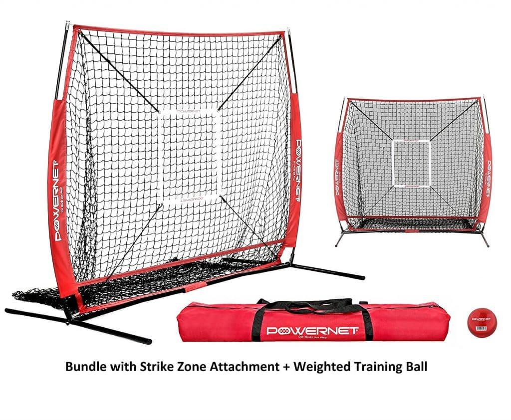PowerNet Baseball and Softball Practice Net 5 x 5