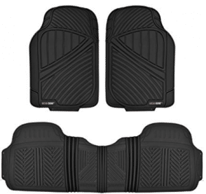 Motor Trend FlexTough Baseline - Heavy Duty Rubber Car Floor Mats
