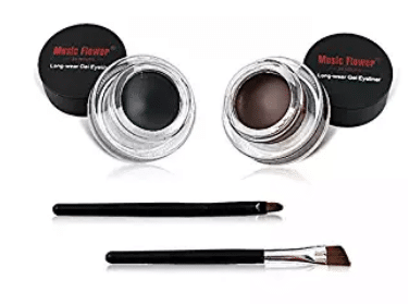 2 in 1Black and Brown Gel Eyeliner Set Water Proof Smudge Proof