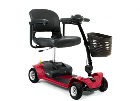 GO-GO ULTRA X 4-wheel Electric Travel Scooter Red Pride Mobility SC44X + Challenger Accessories BUNDLE