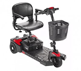 Drive Medical Scout Compact Travel Power Scooter, 3-Wheel Electric Scooter