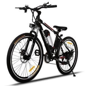 Ancheer Power Plus Electric Mountain Bike with Removable Lithium-Ion Battery, Battery Charger, Electric Mountain Bikes