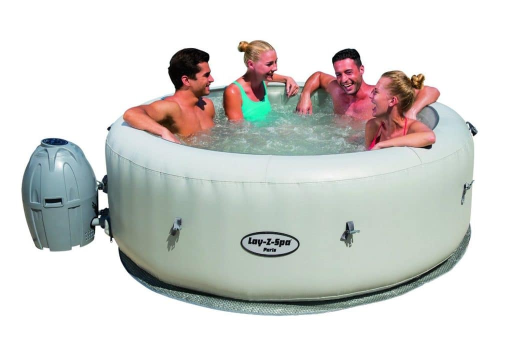 Bestway, SaluSpa Paris AirJet Inflatable Hot Tub w/ LED Light Show