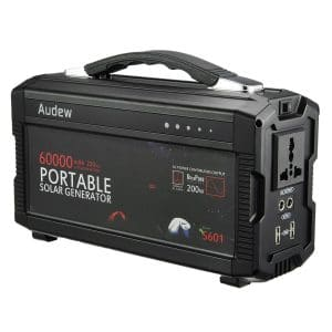 AUDEW 60000mAh/220Wh Powerhouse Portable Generator Power Source with 110V/60HzMax 200W AC Silent Power Inverters, AC & USB Output, Supply for Camping Emergency Backup