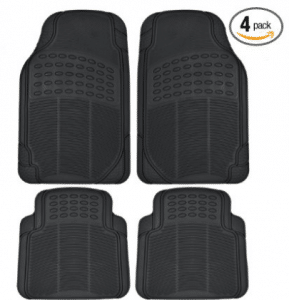 BDK Universal Fit Front/Rear All Weather Protection Heavy Duty Rubber Floor Mat