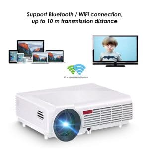 Wifi Projector,ELEGIANT 3000 Lumens Long life LED Full HD LED Home Cinema TV Projector Lcd Multimedia Video Game Projectors Support 1080P HDMI USB VGA AV TV Interface
