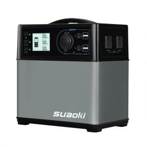 Suaoki 400Wh/120,000mAh Portable Solar Generator Lithium ion Power Source Power Supply with Quiet 300W DC/AC Inverter