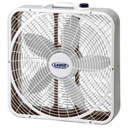 "Lasko #3720 20"" Weather-Shield Performance Box Fan, White"