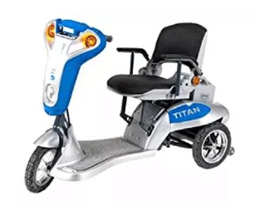 Titan Folding Three-Wheel Lightweight Electric Mobility Scooter Tzora Titan 3