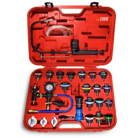 EWK Universal Radiator Pressure Tester & Vacuum Type Coolling System Kit
