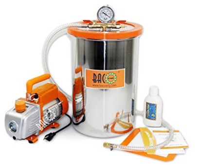 BACOENG 5 Gallon Vacuum Chamber Kit with Vacuum Pump Standard HVAC