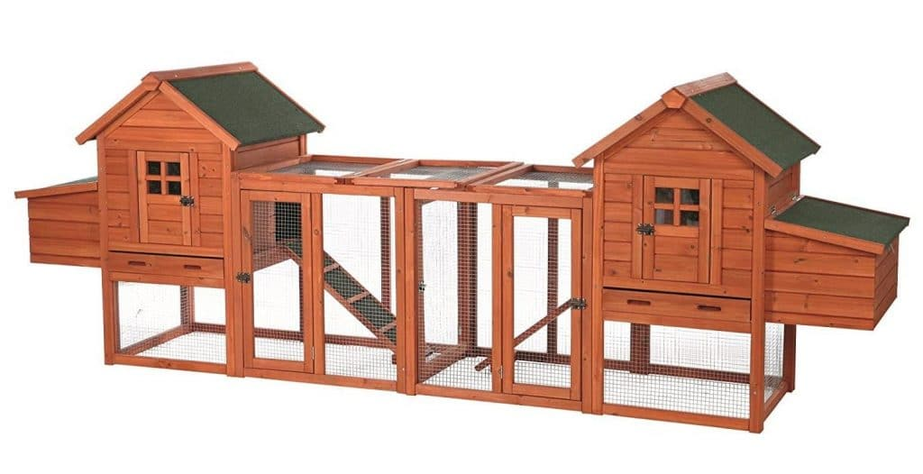 TRIXIE Pet Products Chicken Coop Duplex with Outdoor Run, 123.5 by 27.5 by 42.5""
