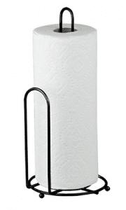 Home Basics Black Paper Towel Holder