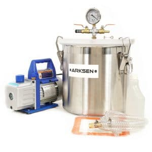 ARKSEN 4CFM 1/3HP Vacuum Pump and 5 Gallon Vacuum Chamber Silicone for Degassing Expoxy