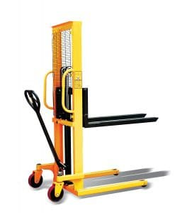 "i-Liftequip PZ Series Hand Manual Stacker for Single Faced Skid Pallets, 63"" Lift Height, 45.27"" Length x 8.8"" - 28.7"" Width Fork, 2200 lbs Capacity"