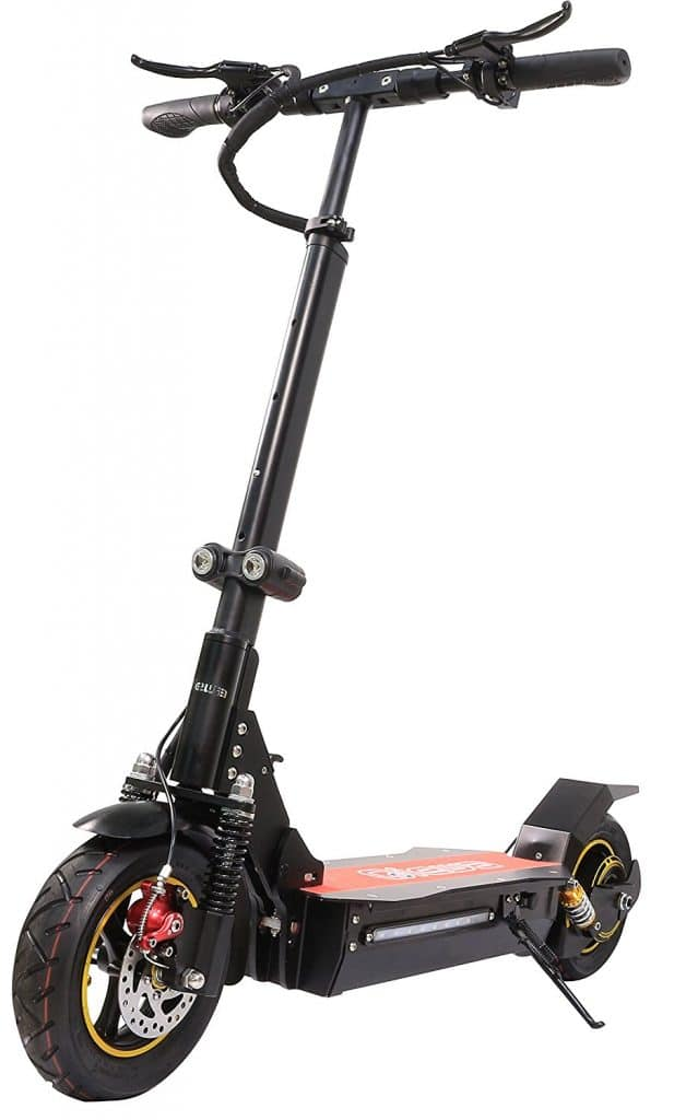 Qiewa Outdoor Foldable Electric Scooter With Dual Disk Brakes Upto 100 Kilometer Or 62 Miles Of Driving Range - Electric Scooter for adults