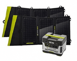 Goal Zero Yeti 400 Solar Generator Kit with Two Nomad 20 Solar Panels - Best Solar Generators