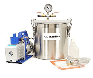 ARKSEN 5 Gallon Vacuum Chamber Silicone Degassing Expoxy with 1/2HP 5CFM Vacuum Pump