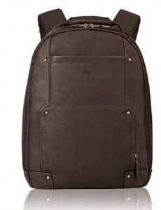 Solo Executive 15.6 Inch Premium Leather Laptop Backpack