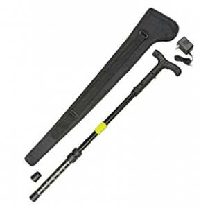 ZAP ZAPCANE Cane - 1 Millionv Stun Gun Walking Cane with Flashlight & Carrying Case