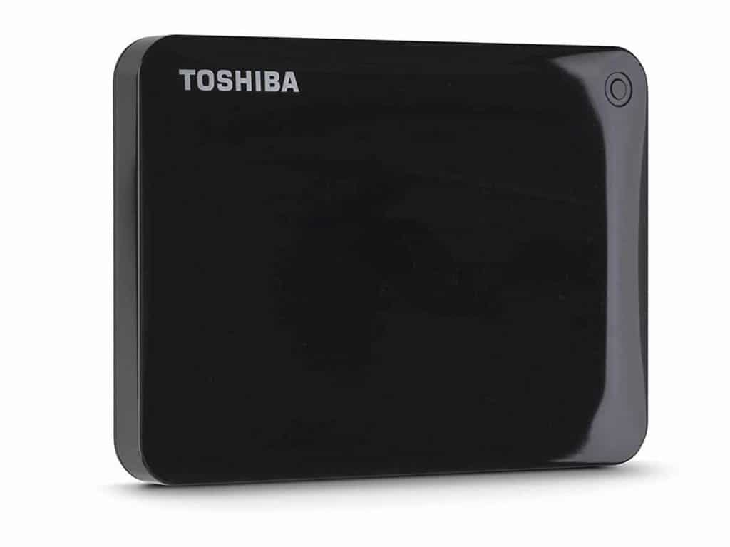 Toshiba Canvio Connect II 1TB Portable Hard Drive, Black (HDTC810XK3A1)