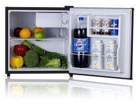 Midea WHS-65LB1 Compact Single Reversible Door Refrigerator, 1.6 Cubic Feet(0.045 Cubic Meter)
