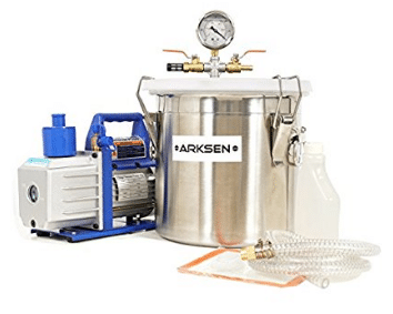 ARKSEN 5CFM 1/2HP Vacuum Pump with 3-Gallon Vacuum Chamber Silicone Degassing Expoxy