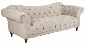Homelegance St. Claire Traditional Style Sofa with Tufting and Rolled Arm Design