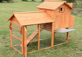 Pawhut Deluxe Backyard Chicken Coop / Hen House w/ Outdoor Run