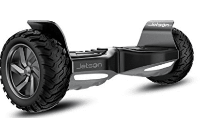 Jetson V8 All Terrain Black Electric Hoverboard - Self Balancing Makes it Great for Standard or Off Road Riding, Off-Road Hoverboards