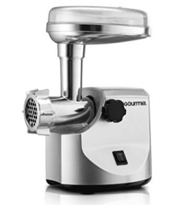 Gourmia GMG7000 Prime Plus Commercial Grade Meat Grinder Variety of Sausage Funnels