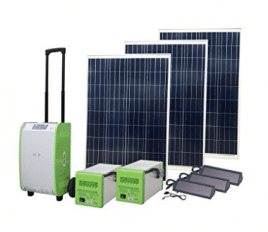 Nature PowerPak 1800-Watt Portable Solar Generator Emergency Kit - Best Solar Generators