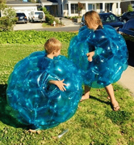 "(2-Pack) Wearable Inflatable Bumper Zorb Balls 36"" - Bubble Soccer Suits"