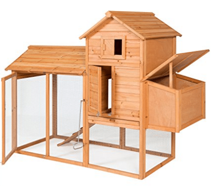 "Best Choice Products 80"" Wooden Chicken Coop Backyard Nest Box Wood Hen House Poultry Cage Hutch - Best Chicken Coops"