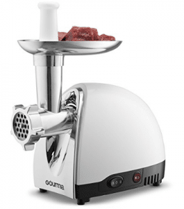 Gourmia GMG525 Meat Grinder with 3 Stainless Steel Grinding