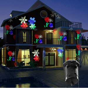 Party Projection Lights Led Projector Light, Kohree Outdoor Light Snowflake Spotlight 10 Pattern Sparkling Landscape Lights for Holiday Party Waterproof Multilcolor