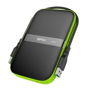 "Silicon Power 1TB Rugged Armor A60 Military-grade Shockproof/Water-Resistant USB 3.0 2.5"" External Hard Drive for PC, Mac, Xbox One and Xbox 360, Black"