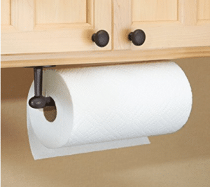 InterDesign Orbinni Paper Towel Holder for Kitchen - Wall Mount/Under Cabinet, Bronze