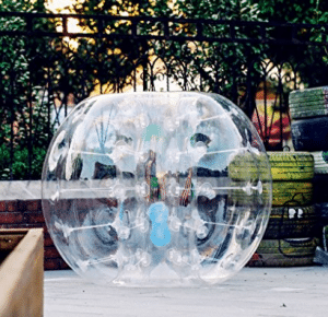 Popsport Inflatable Bumper Ball 4FT/5FT Bubble Soccer Ball 0.8mm Eco-Friendly PVC Zorb Ball Human Hamster Ball for Adults and Kids