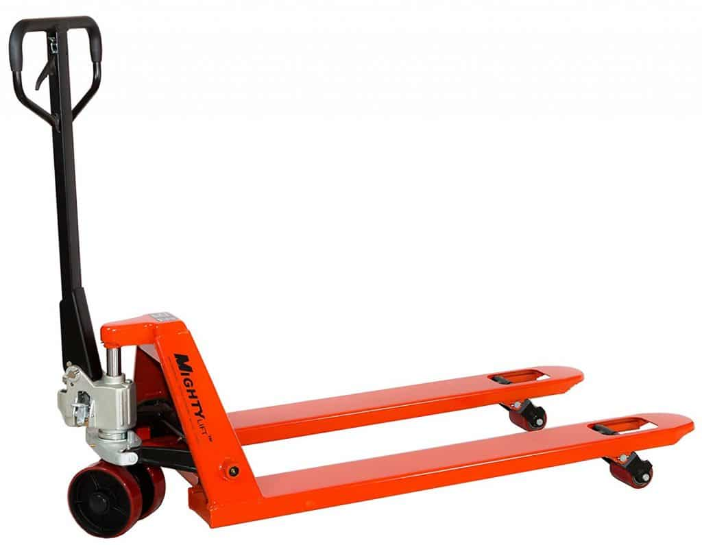 "Mighty Lift ML55 Heavy Duty Pallet Jacks Trucks, 5,500 lb Capacity, 27"" x 48"" Fork"
