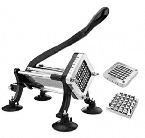 New Star Foodservice 43204 Commercial Grade French Fry Cutter with Suction Feet