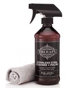 Therapy Stainless Steel Cleaner and Polish with Large Microfiber Cloth - Grill Cleaners