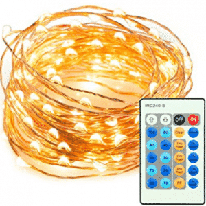 33ft 100 LED String Lights Dimmable with Remote Control, TaoTronics Waterproof Decorative Lights for Bedroom