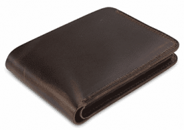 Secret Felicity Men's Genuine Leather Bifold Wallet,Entirely Handmade