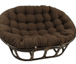 "Blazing Needles Solid Twill Double Papasan Chair Cushion, 58"" x 6"" x 78"""