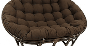 "Blazing Needles Solid Twill Double Papasan Chair Cushion, 58"" x 6"" x 78"""
