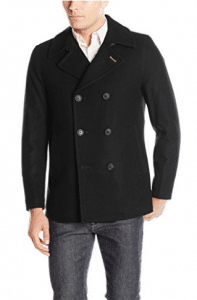 Lucky Brand Men's Ayer Double Breasted Wool Coat