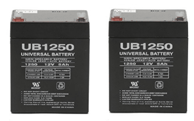 Razor E100 Electric Scooter battery 12V 5AH - 2 Pack - UPG Brand