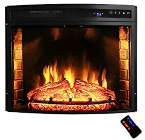 "AKDY 28"" Black Electric Firebox Fireplace Heater Inserts"